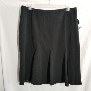 Worthington Works Womens Black flair Skirt